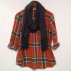 Plaid Shirt Great condition!!                                                              Bundle two or more items to save 20%!! Tops