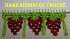 Barradinho de Crochê Fácil de Fazer # Uvas e Franjas
