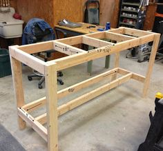 Possible base for bird cage just add wheels (Wilker Do's: DIY Workbench)