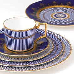 Wedgwood & Bentley Anthemion Blue