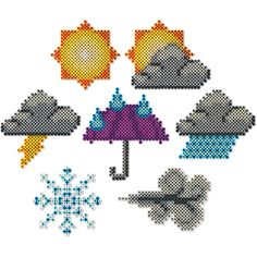 Make a display of the week's weather for the classroom or at home on the fridge. Fun, easy icons!