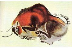 Kresba bizona z jeskyně Altamira-Foto: Wikipedia