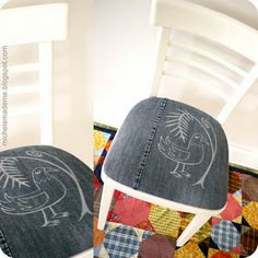 Upcycled Denim Chair Cushions
