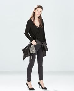 Image 1 of COMBINED LACE TOP from Zara