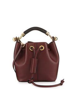 9c8544d48cb0 V2P7V Chloe Gala Small Leather Bucket Bag