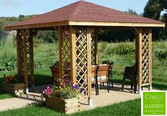 Large Wood Gazebo Outdoor Pergola Pavilion Shelter BBQ Shed Sun Shade Seat Space Pergola Cost, Outdoor Gazebos, Backyard Gazebo, Garden Gazebo, Pergola Canopy, Pergola Patio, Garden Landscaping, Pergola With Roof, Cheap Pergola