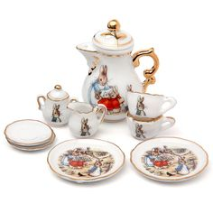 Petite Planet: Beatrix Potter Miniature Tea Set for a Special Easter or Spring Gift