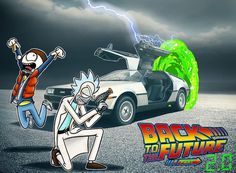 Rick and Morty x Back to the Future