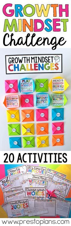 Help students develop a growth mindset with this classroom challenge that includes 20 engaging activities. The activities are meant to encourage resilience, hard-work, dedication, and improvement. Teachers set up the Growth Mindset Classroom, Growth Mindset Activities, Bulletin Board Growth Mindset, Growth Mindset Display, Growth Mindset Lessons, Motivation, Formation Continue, Classroom Community, Character Education