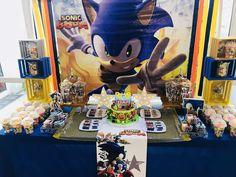 Sonic the Hedgehog Birthday Party Ideas Sonic Birthday Parties, Sonic Party, 10th Birthday, Hedgehog Birthday, Dinosaur Birthday, Birthday Decorations, Sonic The Hedgehog, Party Ideas, Sonic Boom