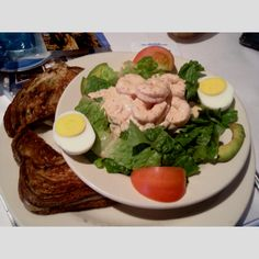 Gloria's Special at Weidmann's: shrimp remoulade salad with a grilled cheese sandwich.