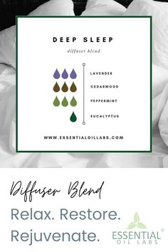 Drift off into a relaxing and restorative dream world. Allow the magic of this diffuser blend create an ambience that promotes healthy sleep habits. Essential Oils For Eczema, Stress Relief Essential Oils, Essential Oils Guide, Essential Oil Scents, Essential Oil Diffuser Blends, Young Living Essential Oils, Sleeping Essential Oil Blends, Healthy Sleep, Magic