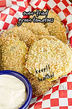Panko Crusted Baked Fried Green Tomatoes with Lulus Wow Sauce recipe - This recipe is so easy, great side dish or appetizer Side Recipes, Veggie Recipes, Baking Recipes, Healthy Recipes, Drink Recipes, Southern Recipes, Southern Food, Southern Comfort, Captain America Birthday Cake