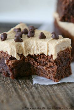Fudgy Brownies with Cookie Butter Frosting #yum #yummy #food #dessert #dinner #family #mom #love #easy #jumblzar