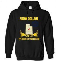 Snow College - #sweat shirts #grey sweatshirt. CHECK PRICE => https://www.sunfrog.com/No-Category/Snow-College-1370-Black-Hoodie.html?id=60505