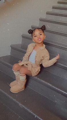 Cute Little Girls Outfits, Kids Outfits Girls, Toddler Girl Outfits, Baby Outfits, Cute Mixed Babies, Cute Black Babies, Cute Babies, Cute Kids Fashion, Baby Girl Fashion