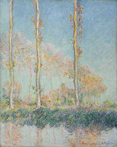 Poplars: 1891 by Claude Monet (Philadelphia Museum of Art, Philadelphia, PA) - Impressionism
