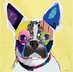 Gorgeous dog collages by Michel Keck