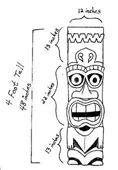 Tiki Mask Stencil | Tiki Stencil Tiki measurements