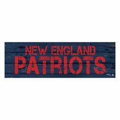 New England Patriots Rustic Canvas Wall Art