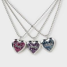 Carry your BFF everywhere you go with a Best Friends Forever Locket Necklace Set
