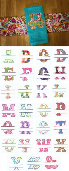 Split Wanda Applique Alphabet available for instant download at www.designsbyjuju.com