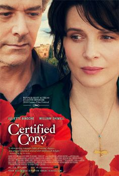 Juliette Binoche is amazing in this movie that raises questions of contemporary art regarding original versus copy. And much much more. A must watch!