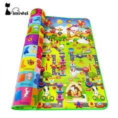 Double-sided Baby Play Mat Soft Rugs Kids Carpets Toys Developing Playground #NewbornsPuzzleChina
