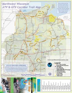 Snowmobile trail map for the Keweenaw Peninsula of Michigan s UP