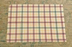 Red Green Yellow, Blue, Vintage Bedding, Yellow Stripes, Ebay