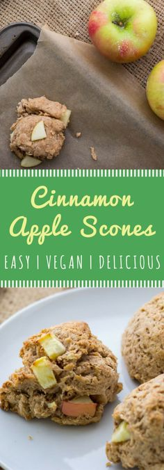 Easy vegan Cinnamon Apple Scones recipe!