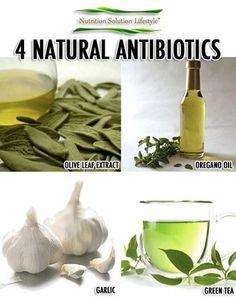 4 natural antibiotics... **SVD** http://remediestodoathome.blogspot.com/search?q=antibiotics