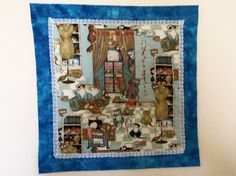 SEW n SEW CATS QUILTED MINI WALL HANGING