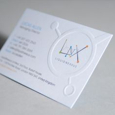 The embossing on this business card really complements the logo design #RiseAndShineComp