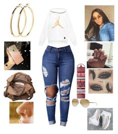 """""""Untitled #332"""" by yagirlnini on Polyvore featuring beauty, Friis & Company, Michael Kors and Pieces Boujee Outfits, Baddie Outfits Casual, Swag Outfits For Girls, Cute Swag Outfits, Dope Outfits, Polyvore Outfits, Stylish Outfits, Jordan Outfits, Winter Outfits"""