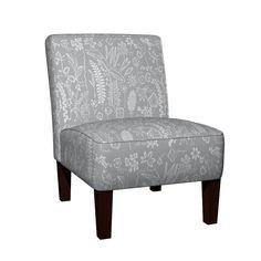 Maran Slipper Chair featuring Botanical Sketchbook silhouette grey by mypetalpress | Roostery Home Decor