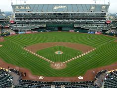 Overstock Coliseum - home of the Oakland Athletics. Best beer selection of any ballpark, hands down.