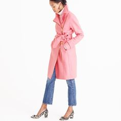 Bring Edge to Your Feminine Jacket Just By Looping the Belt —and Adding Animal Pumps