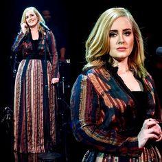 Adele wearing a Lanvin dress on Skavlan Show