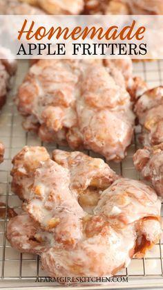 Apple Fritter Recipes, Apple Recipes, Fall Recipes, Sweet Recipes, Grandma's Recipes, Apple Desserts, Diet Desserts, Donut Recipes, Noodle Recipes