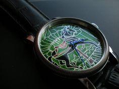 Leszek Kralka - enamel cloisonne dial watch.