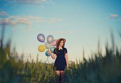 Field & balloons