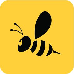 Bee Rocks, Bee Silhouette, Honey Logo, Tan Tattoo, Library Themes, Bee Illustration, Bee Art, Bee Keeping, Painted Rocks