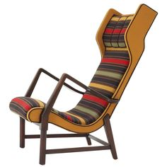 Rare Italian loungechair - original upholstery - Gio Ponti style