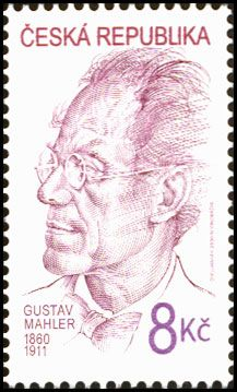 Gustav Mahler - Austrian composer - on a Czech postage stamp. Gustav Mahler, Classical Music Composers, Vintage Stamps, Special People, Stamp Collecting, Art Music, Literature, Conductors, Famous Faces