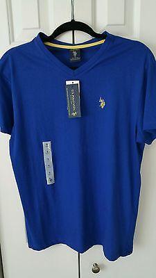 U.S. Polo Blue Top Shirt Size Small Royal Blue VNeck