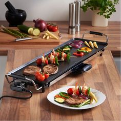 Barbeque XXL Plate Patio Electric Tabletop BBQ Grill Meat Cooking Outdoor Indoor for sale online Electric Barbecue Grill, Bbq Grill, Electric Grills, Patio Grill, Indoor Grill, Teppanyaki, Small Kitchen Appliances, Kitchen Tools, Gourmet