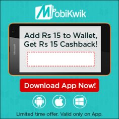 Mobikwik Offer Rs. 15 Cashback on Adding balance of Rs. 15  Mobikwik is giving you a Free recharge offer only for you where you can get a Rs 15 Cashback on Adding balance of Rs 15 (App only, All Users) for Rs. 15.0 at Mobikwik. To get this FREE recharge offer please follow given below mention some easy steps. #recharge #cashback #offers #mobikwik
