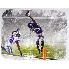 Odell Beckham Jr. Signed One-Handed Catch Graphic 32x40 Canvas