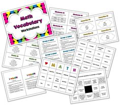 What Are the Other Kids Doing?: Math Vocabulary Workstations